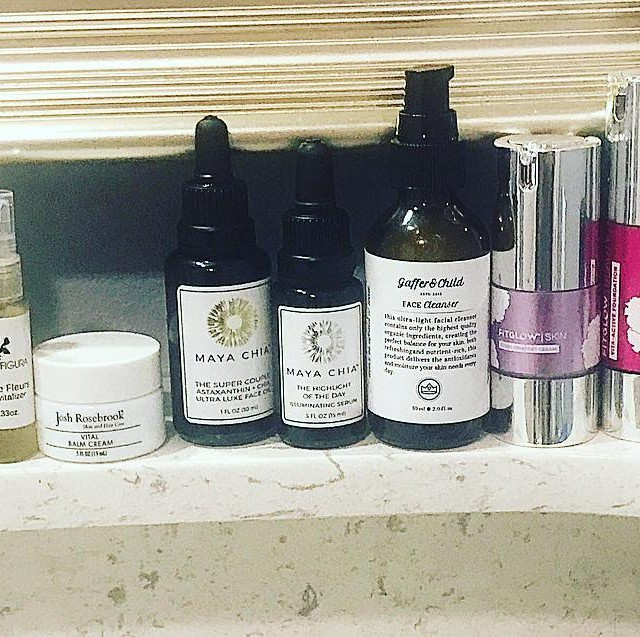 Travel skincare shelfie  Im so happy to bring somehellip