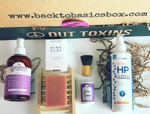 Another great variety of green beauty and eco- home/lifestyle products in the May @backtobasicsbox . Are you subscribed? See any favorites? . This month the Eco Chic Chica box included: @theoptimistco Room & Air Spray in Lavender can always use room sprays especially made with safe ingredients- distilled water, organic apple cider vinegar, organic castile soap & pure lavender essential oils. @herbivorebotanicals Pink Clay Soap & Soap tray- this soap can be used on both face & body @gandgorganics Organic Dry Shampoo & Organic Dry Shampoo Powder Brush Travel Size in Lavender & Bergamot- I've tried the dry shampoo before and works great but can't wait to use with the brush @essentialoxygen Essential Oxygen Hydrogen Peroxide - multi- use disinfectant . This monthly box is such a great way to green up your life and home for $29.99 + shipping! . Happy Monday!!! . . . #greenbeauty #greenbeautyblogger #greenbeautybloggers #greenbeautymovement #greenpassionbeauty #organicbeauty #organicbeautyblogger #organicbeautybloggers #naturalbeauty #naturalbeautyblogger #naturalbeautybloggers #naturalbeautybox #subscriptionbox #backtobasicsbox #peaceouttoxins #ecohome #greenbeautybox #ecoliving #ecobeauty #cleanliving #cleanbeautybox #greenliving #ecochicbox #ecochic