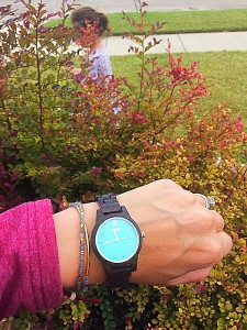 JORD FRANKIE 35 DARK SANDALWOOD AND MINT WATCH
