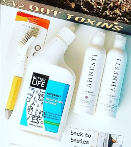 "The August @backtobasicsbox is another great box full of green beauty and green home essentials. Have you tried any of these? . This box features: @ahnestihaircare Integriti Replenishing Shampoo & Conditioner Full Sizes ($26 each) -plant based and follows EU strict standards. @betterlifecleanhappens Naturally Throne- Tidying Toilet Bowl Cleaner Tea Tree & Peppermint ($6.99-7.99) @fullcirclehomellc Micro Manager Detail Brush ($4.99)- BPA-free recycled plastic & bamboo handle I haven't tried any of these brands yet but excited to test them out! . I've been subscribed to this box for a few months now and I'm so impressed with the variety of eco-home and green beauty products packed in the box every month. Plus the details that come with every product- information about why the ingredients in the products featured are safer than conventional choices or ""the other junk"". . Are you subscribed? . . Happy Tuesday!!!! ❌⭕️ . . . #greenbeauty #greenbeautybox #subscriptionbox #monthlysubscription #naturalsubscriptionbox #greenpassionbeauty #greenpassionlife #greenpassionliving #greenpassionmomma #naturalblog #naturalbeautyblogger #naturalbeautybloggers #organicbeauty #organicbeautyblogger #organicbeautybloggers #ecohome #peaceouttoxins #backtobasicsbox #wellbeing #nontoxic #greenproducts #ecofriendly #healthylifestyle #saferproductsadvocate"