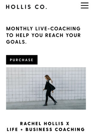 Live Monthly Coaching with Rachel Hollis:  Life & Business
